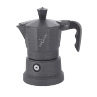 Top Moka Pot Large Three Shot Black